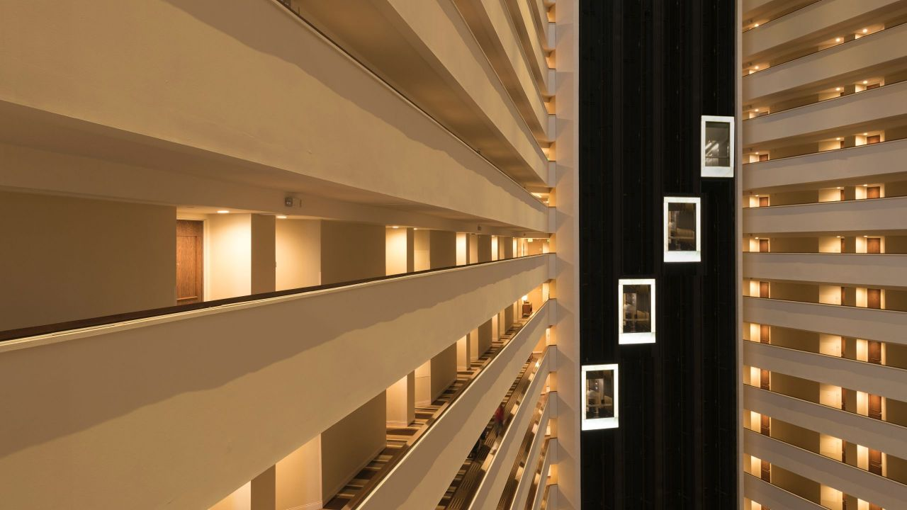 Hyatt Regency Houston atrium hallway