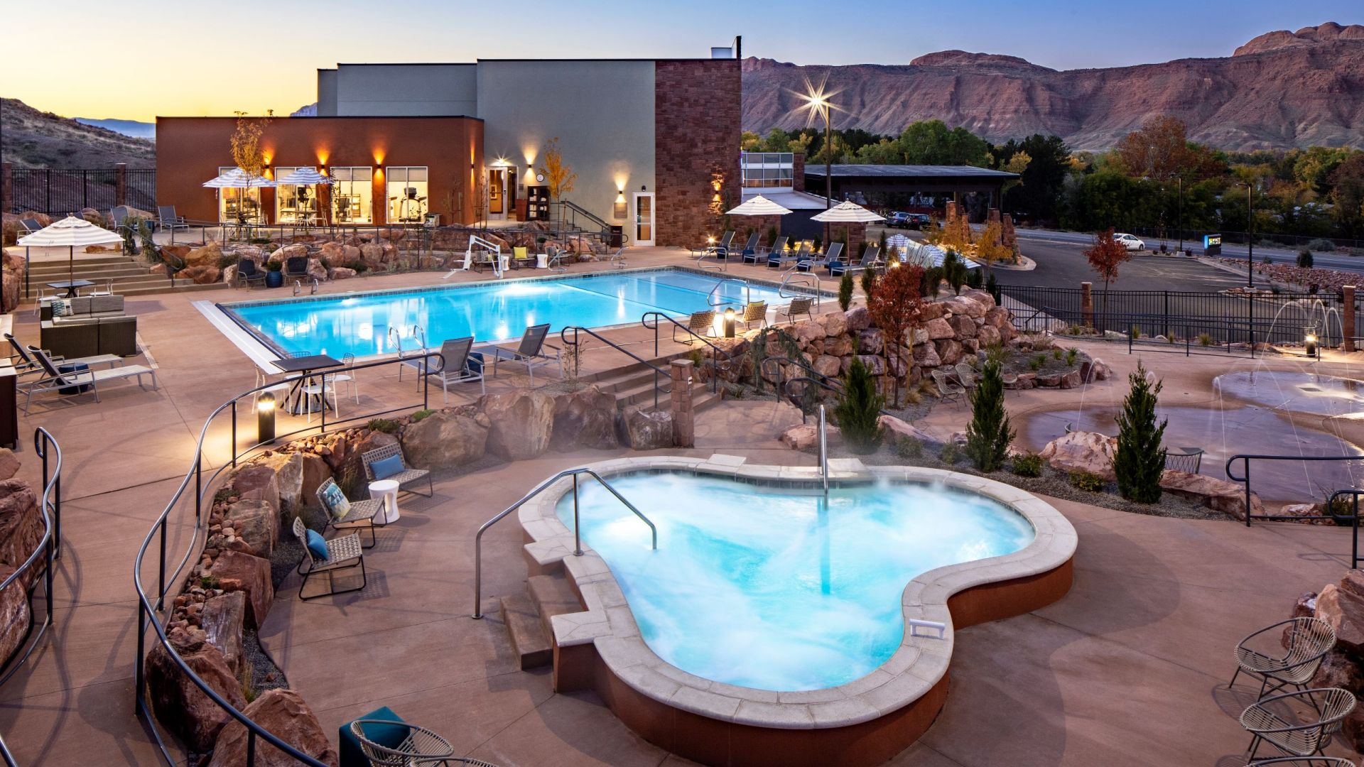Moab Pool view