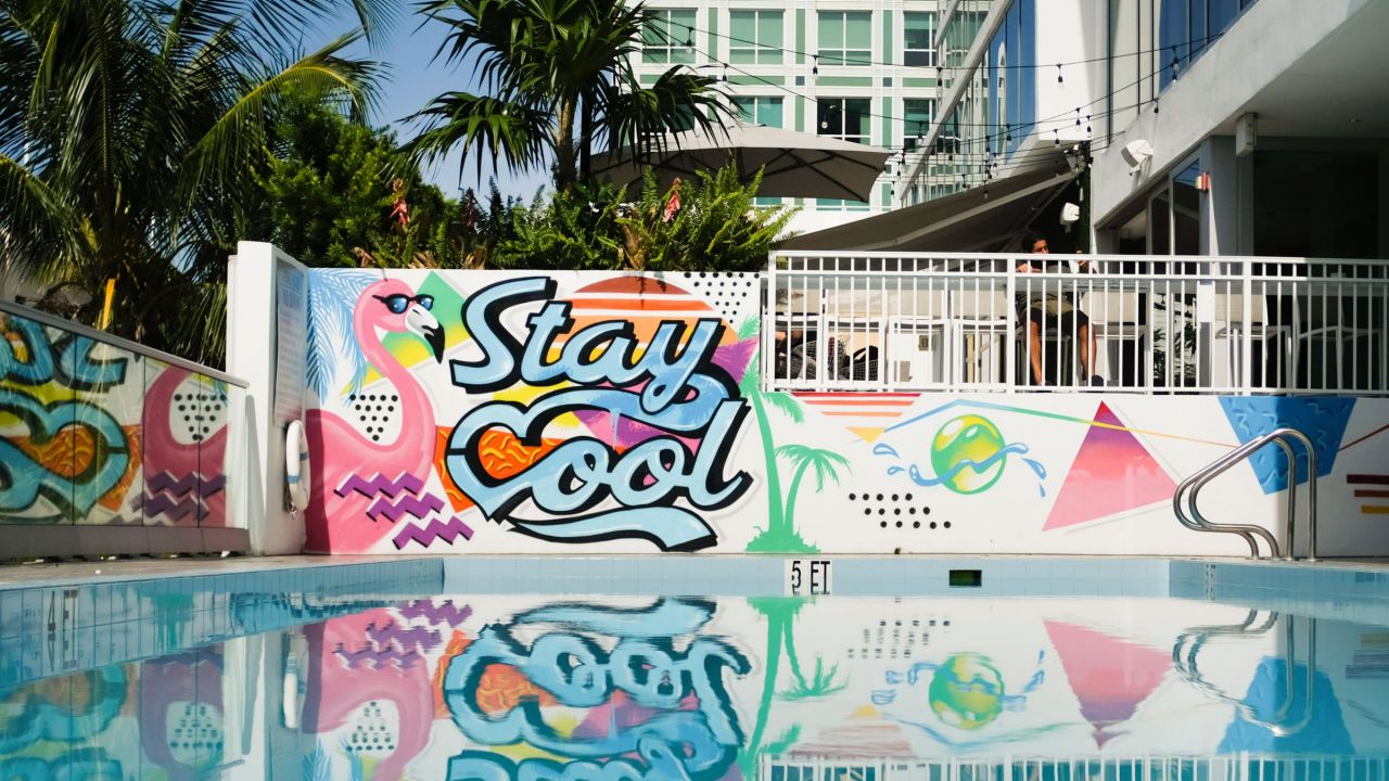 Hyatt Centric South Beach pool mural