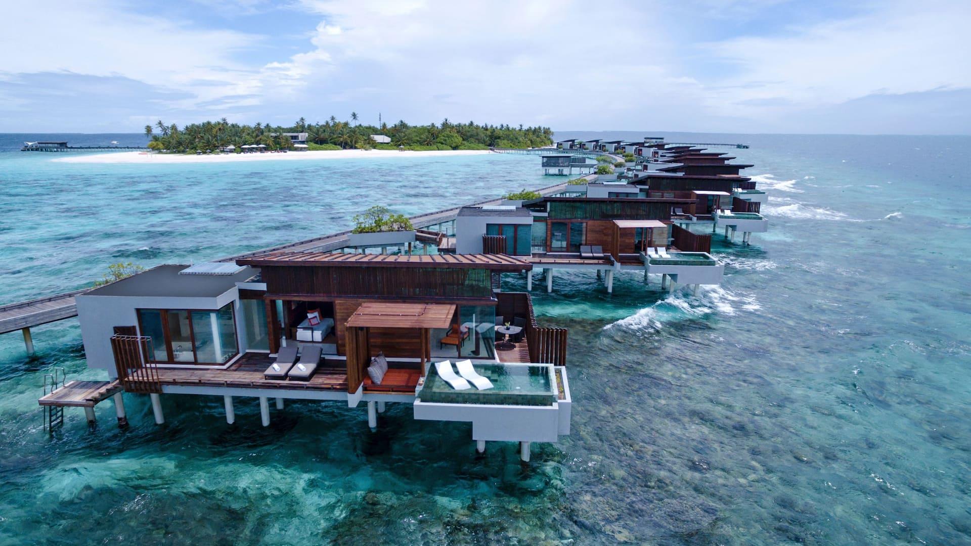 Park Sunset Ocean Pool Villa Aerial