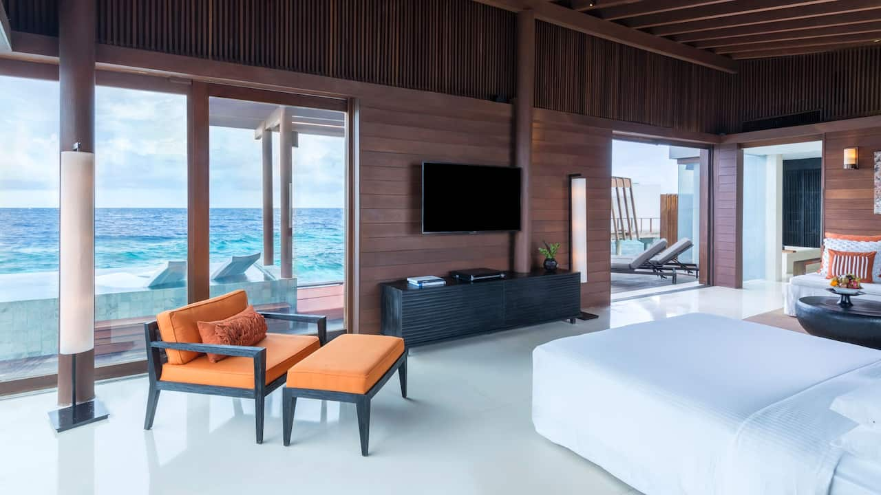 Park Sunset Ocean Pool Villa Bedroom