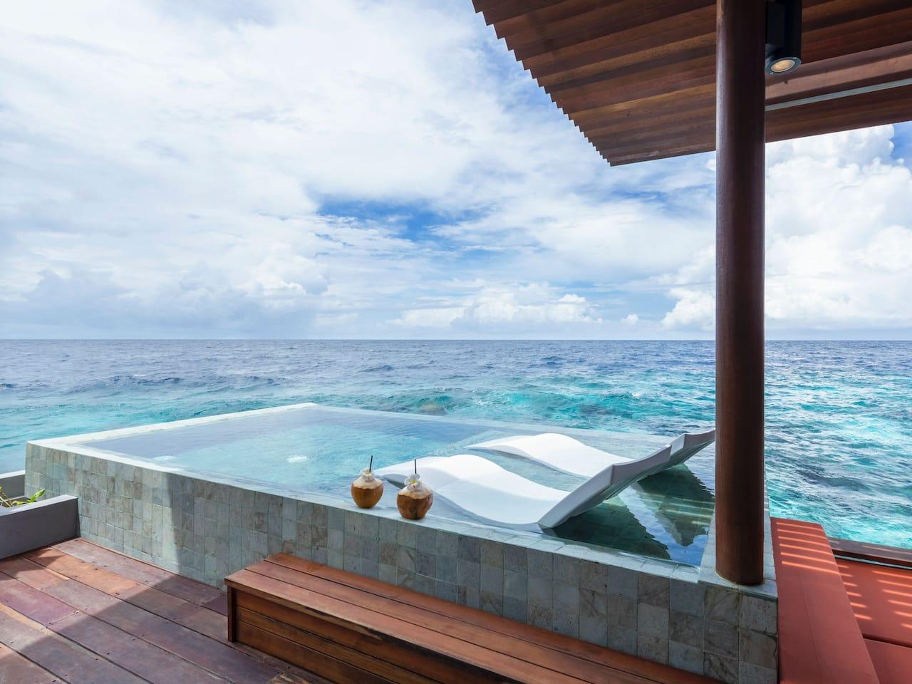 Best Luxury Maldives Resort Park Sunset Ocean Pool Villa