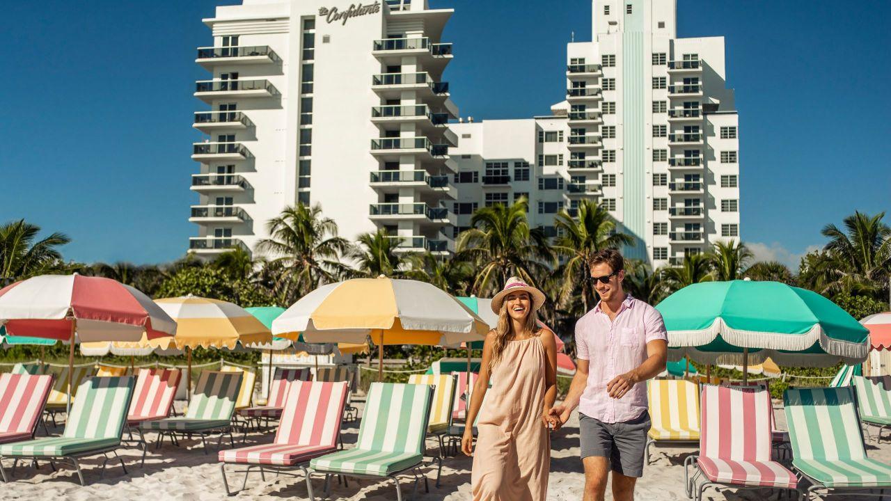 View of The Confidante Hotel from Miami Beach