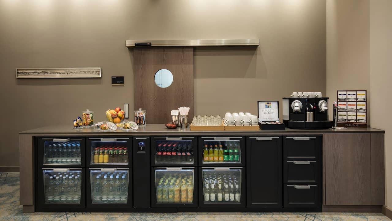 Foyer für Empfänge und Kaffeepausen Hyatt Place Frankfurt Airport