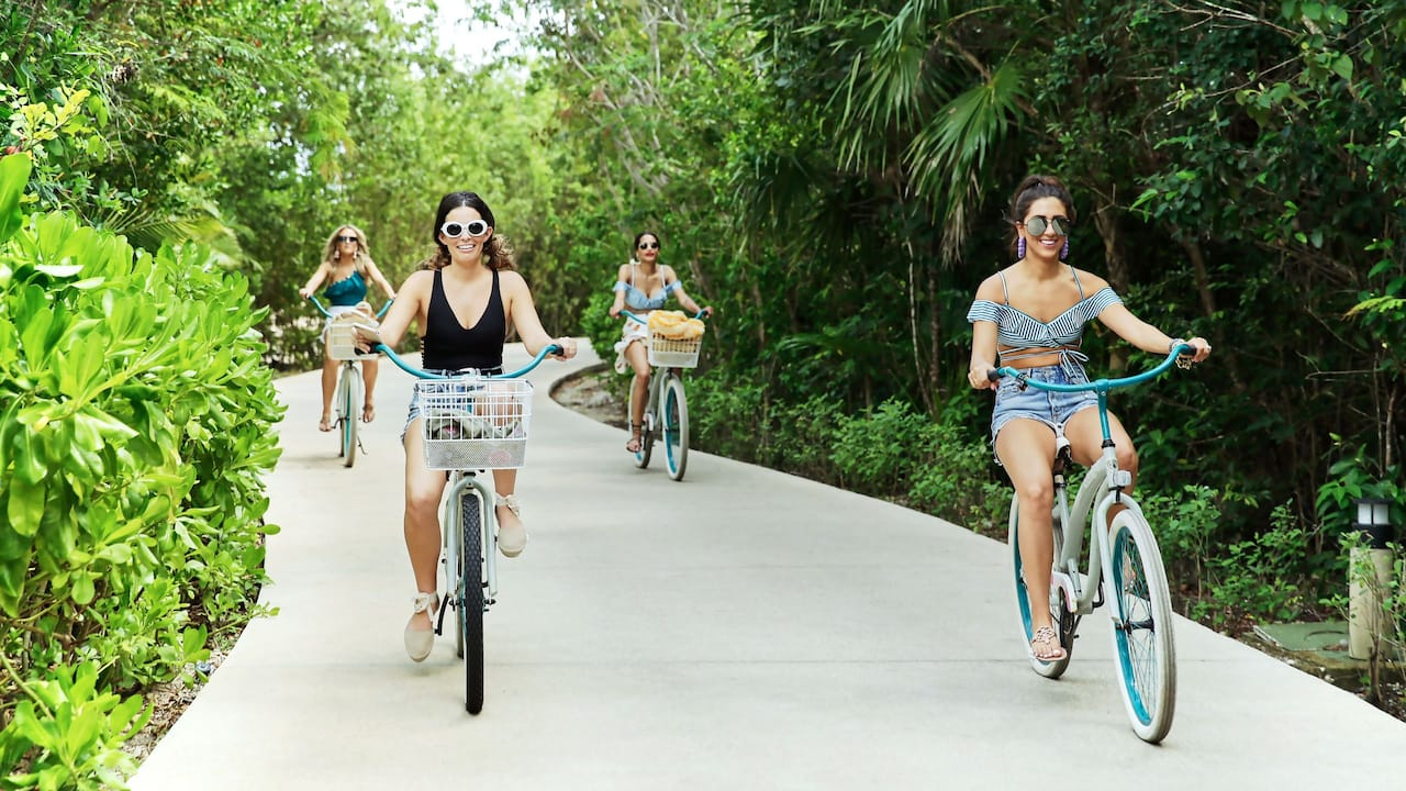 Biking Through Andaz Mayakoba