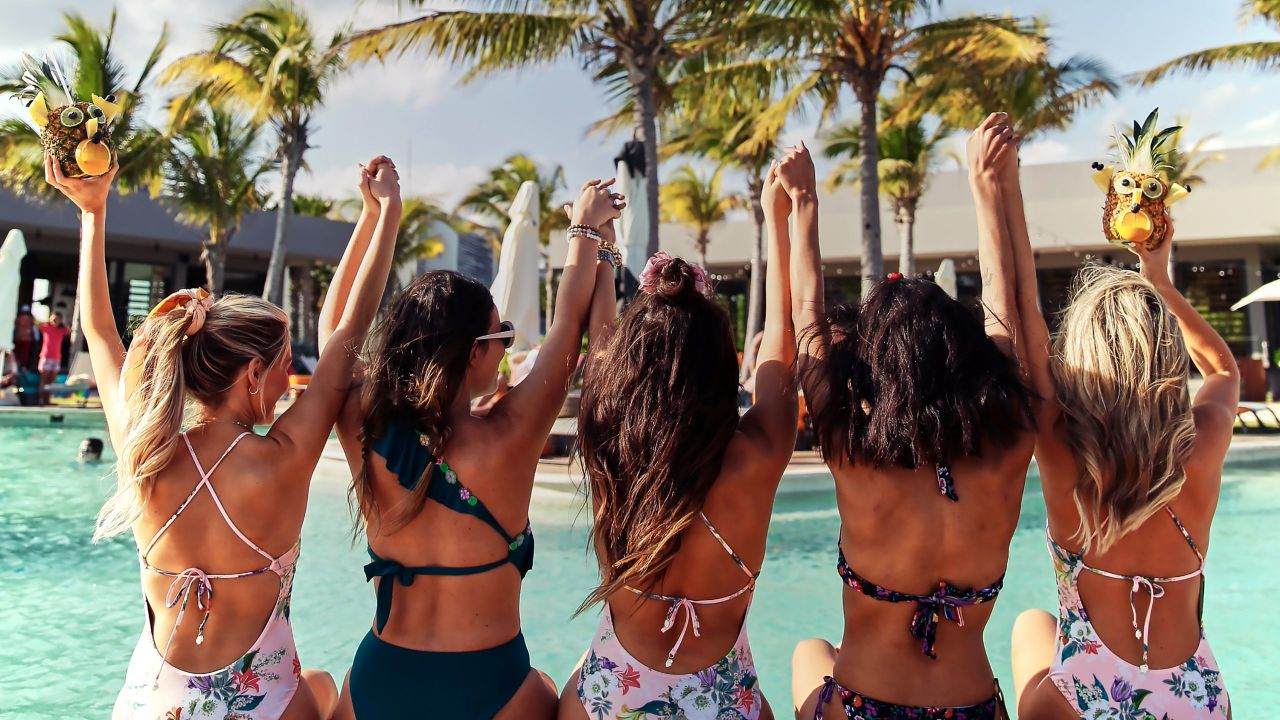 Andaz Mayakoba Resort Riviera Maya pool friends