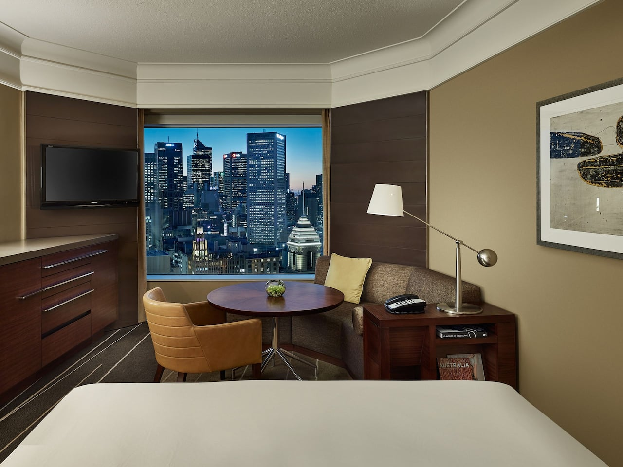 1 King Bed with City View