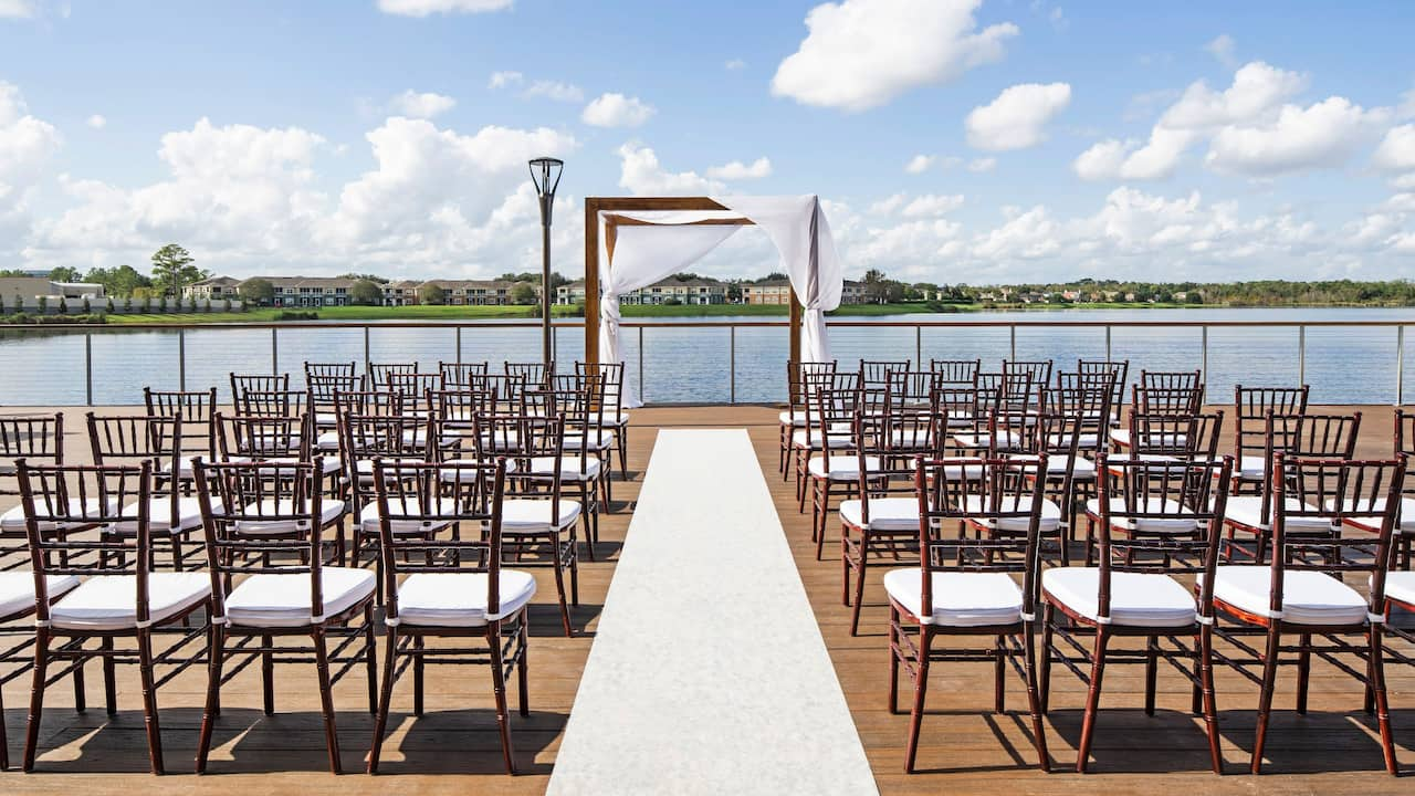 Terrace Wedding Setup