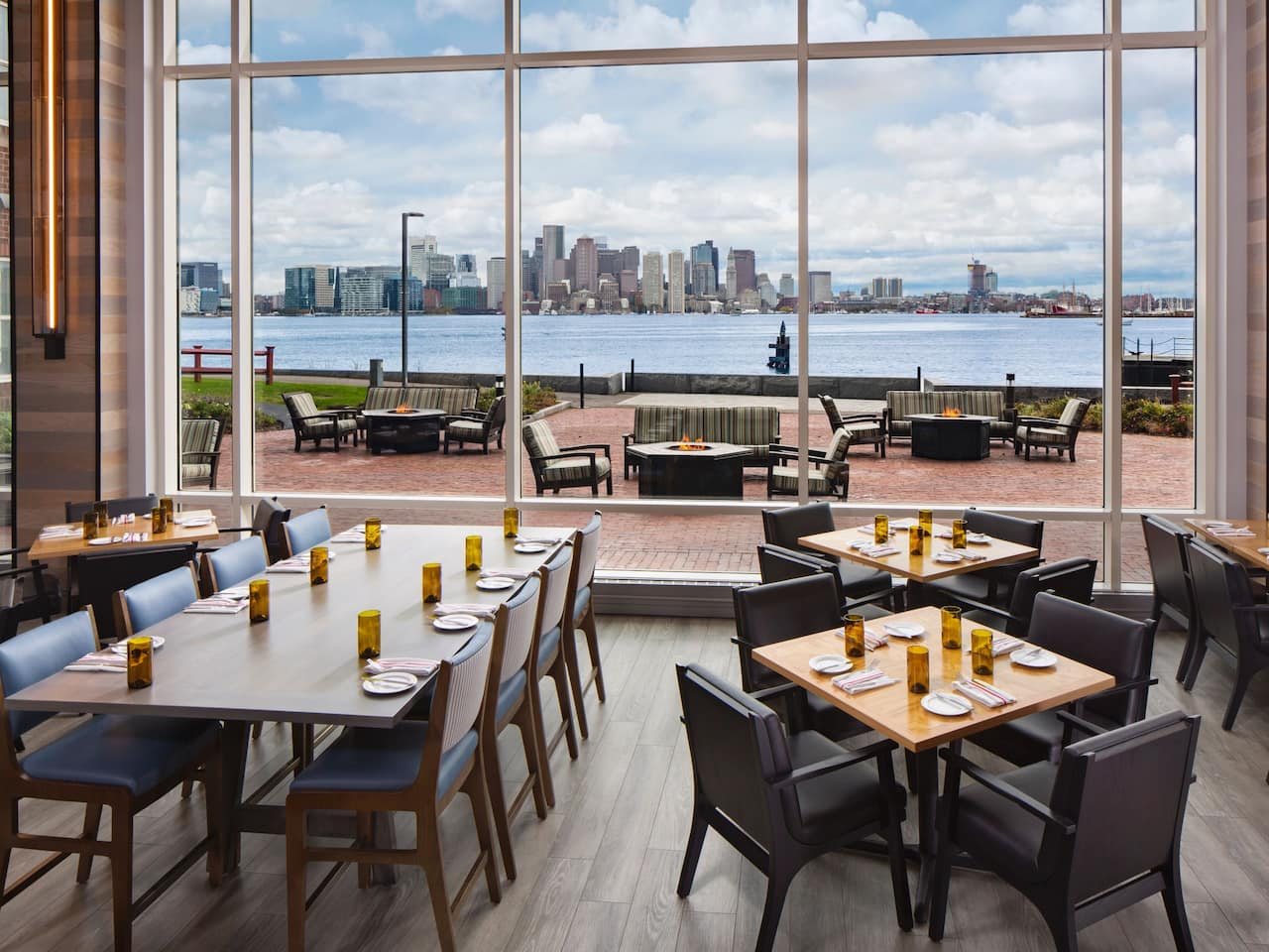 Harborside Grill Patio Skyline View