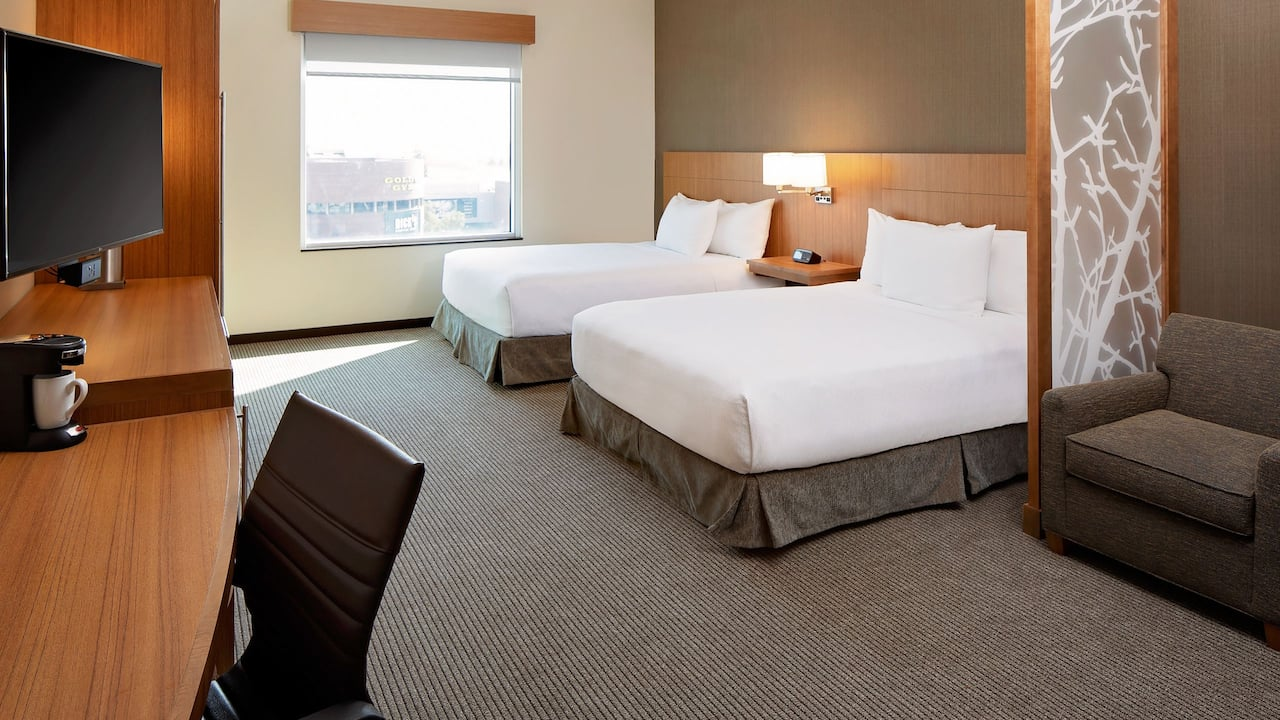 Accessible Room with Two Queen Beds and Roll-In Shower Hyatt Place Glendale Los Angeles