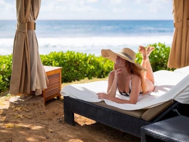 Grand Hyatt Kauai Resort Lifestyle Beachside Cabana