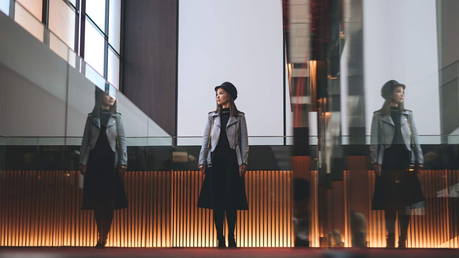 Hyatt Centric Ginza Girl by Staircase