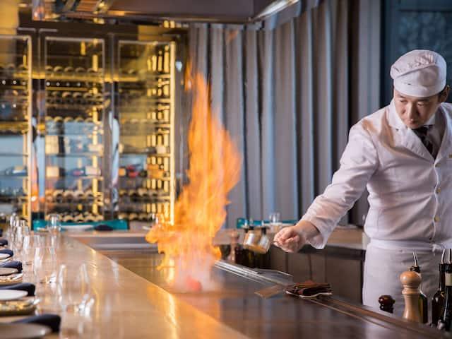 Grand Hyatt Seoul Teppan Chef Flambee