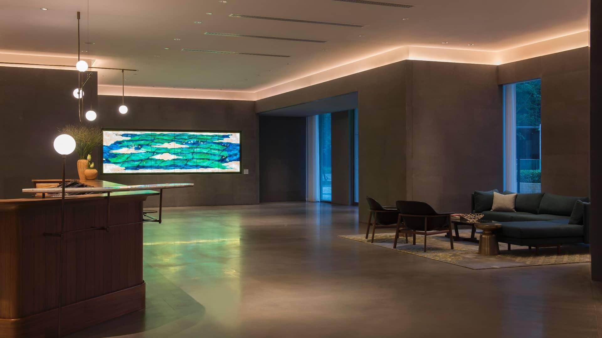 Spacious Lobby Reception
