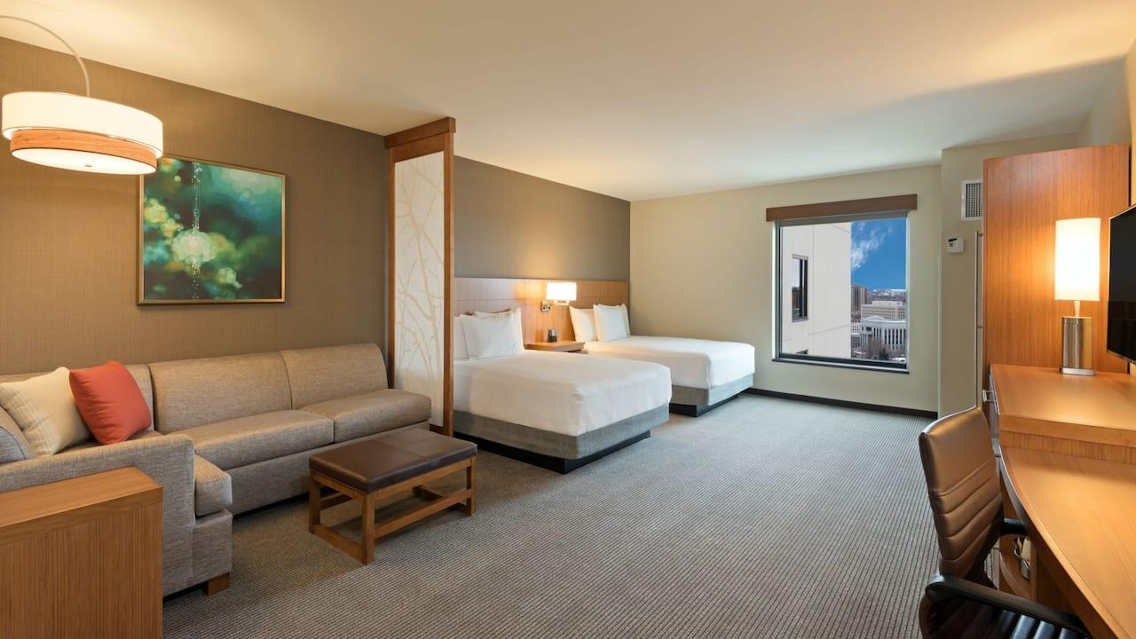 Two Queen Beds High Floor