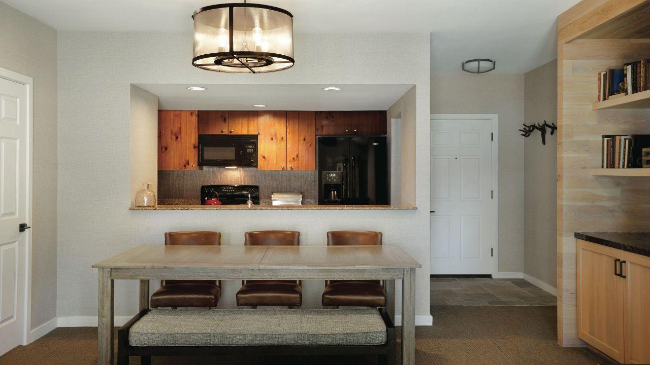Hyatt Regency Lake Tahoe Resort Spa and Casino Beach Front Cottage Lower Kitchen