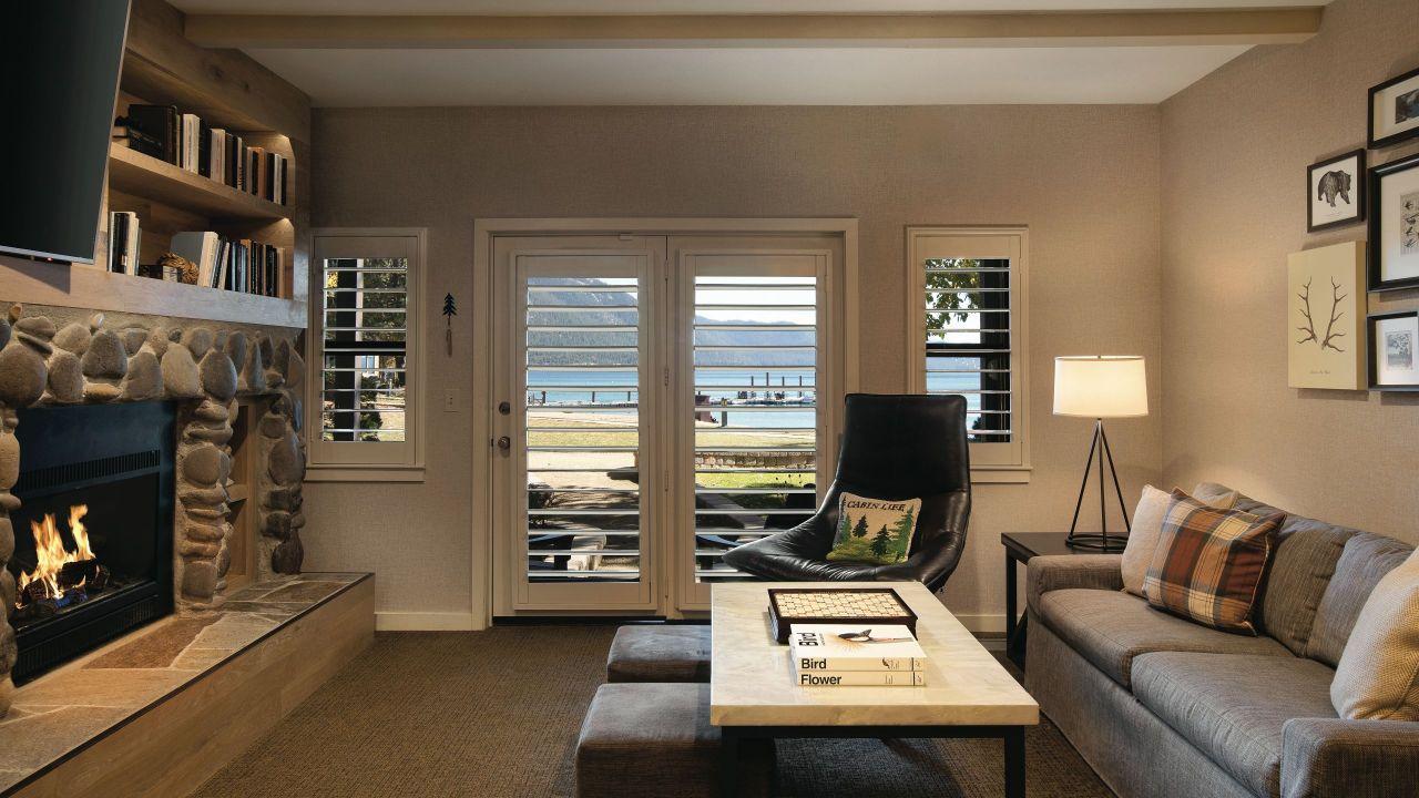 Hyatt Regency Lake Tahoe Resort Spa and Casino Lakeside Cottage Lower Living Room