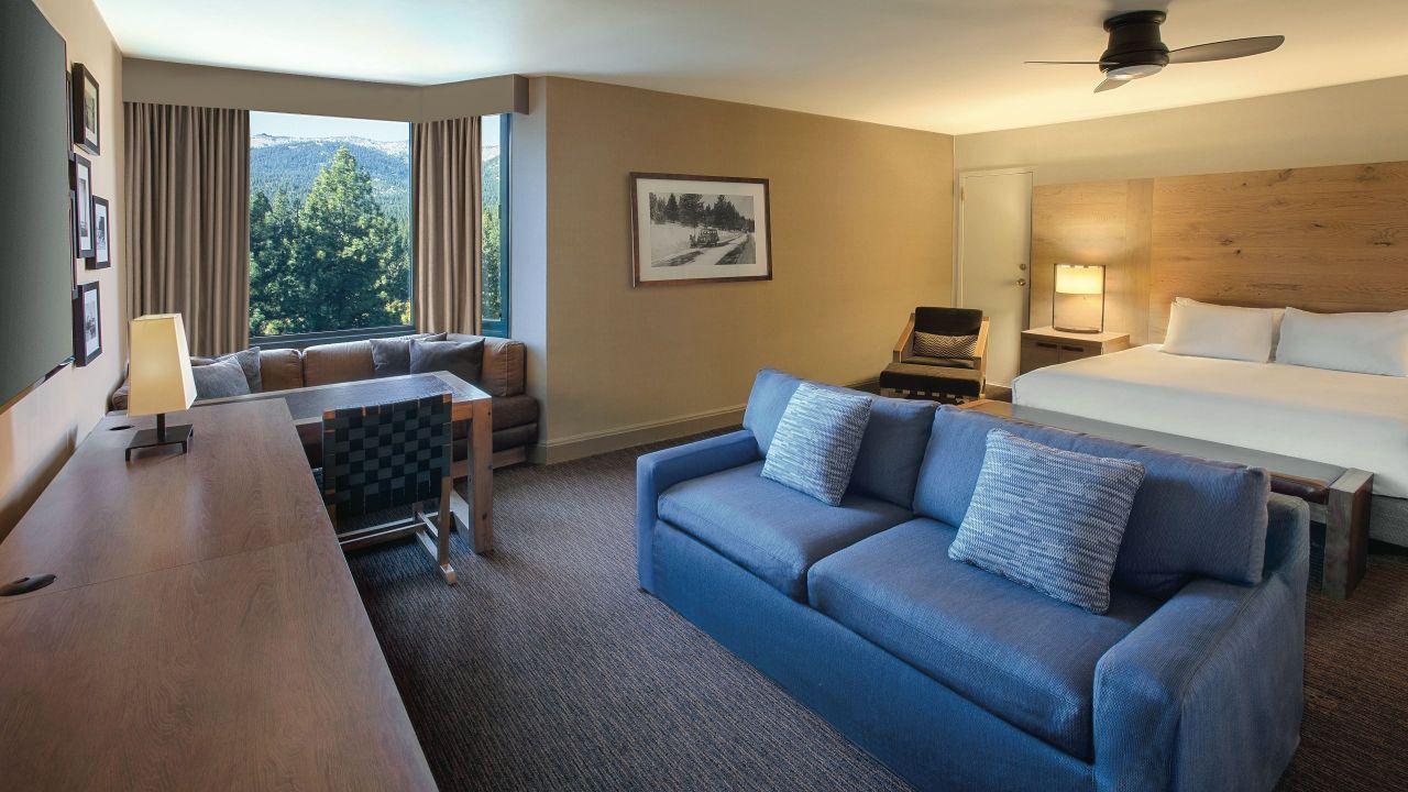 Hyatt Regency Lake Tahoe Resort Spa and Casino  king bedroom sofa