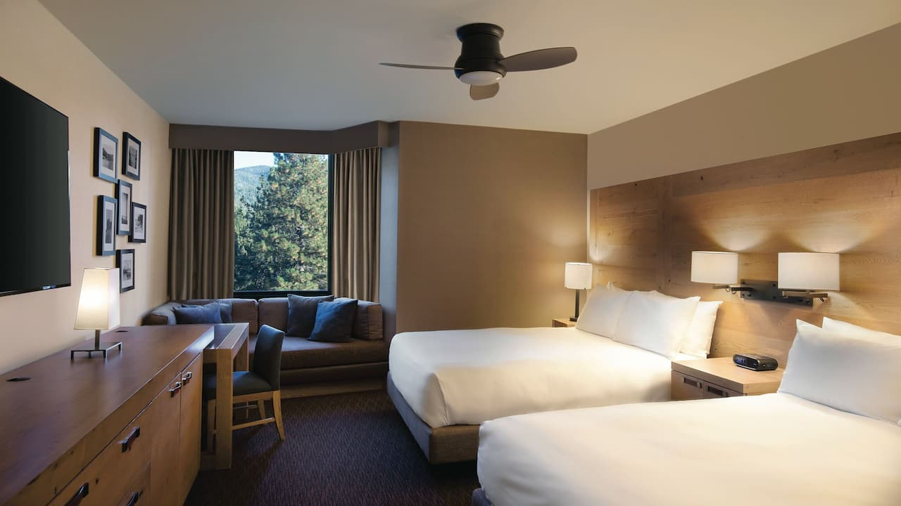 Room with Accessible two Queen Beds/Shower Hyatt Regency Lake Tahoe Resort, Spa & Casino