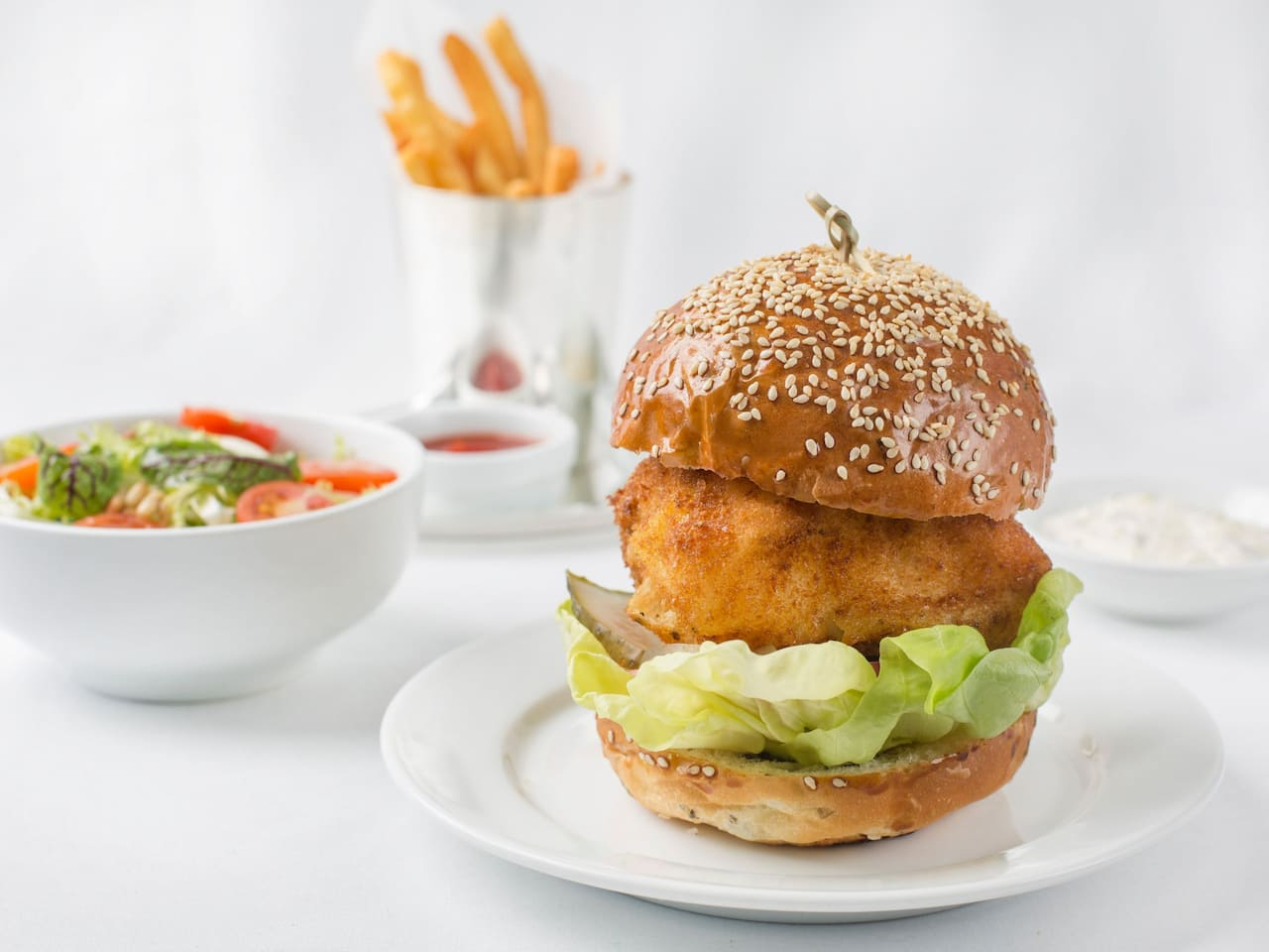 Alaskan Cod Fish Burger