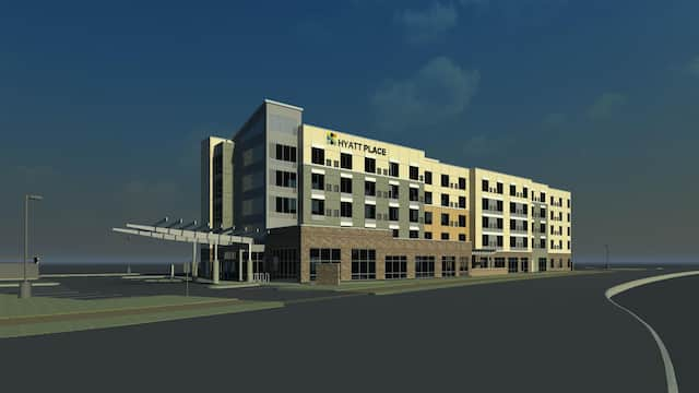 Rendering of Hyatt Place Fresno hotel