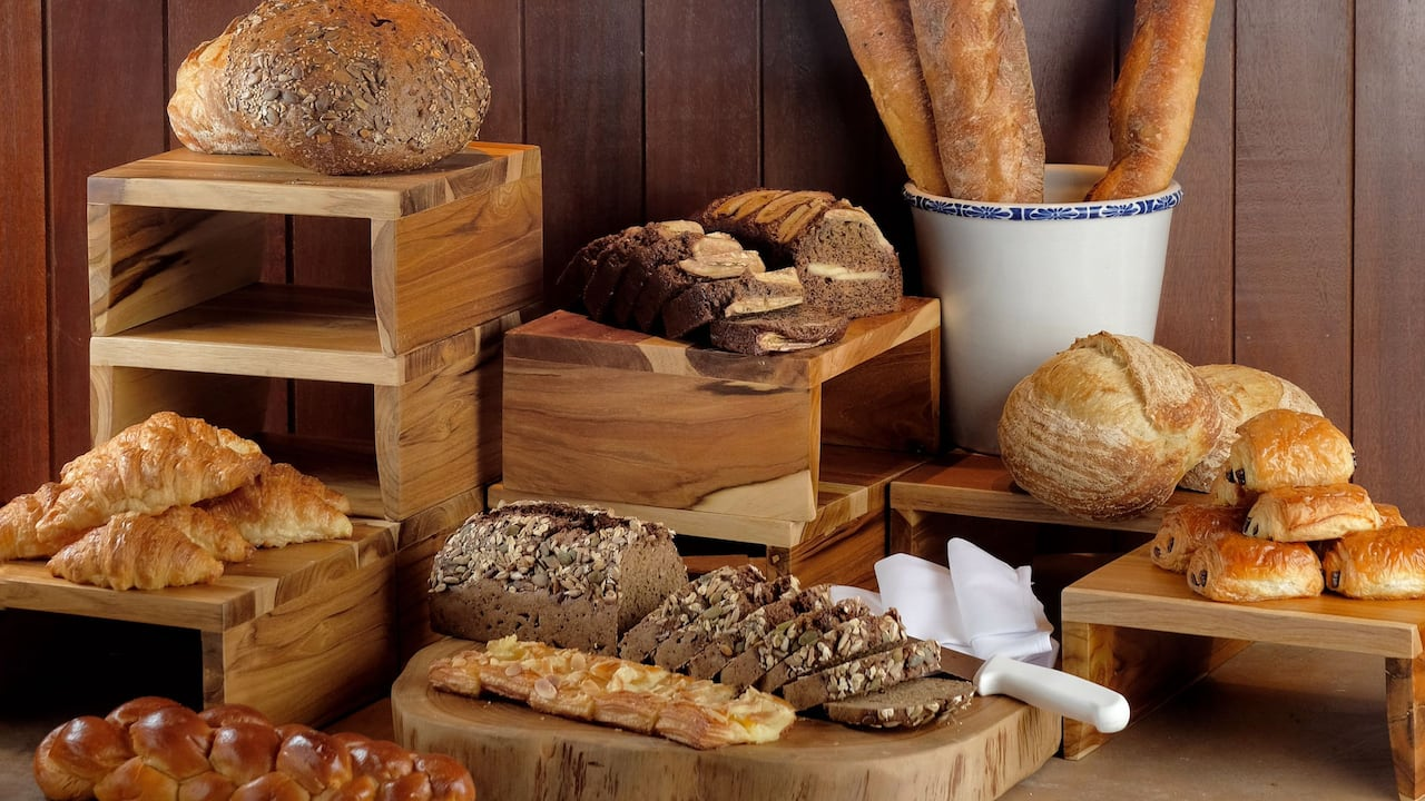 Bread Selection at Omang Omang Restaurant Hyatt Regency Bali