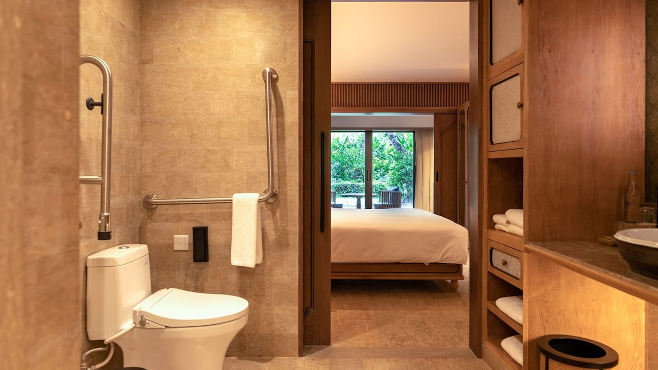 Accessible Bathroom at the Hyatt Regency Resort Bali