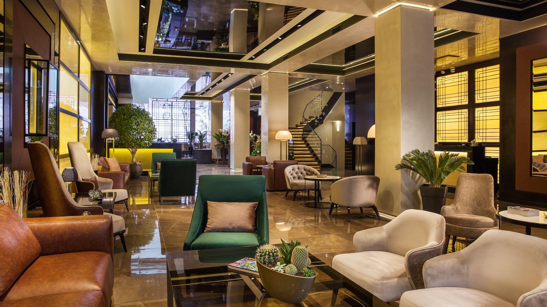 Saint Ten Hotel lobby