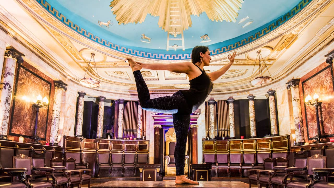 Yoga at Masonic Temple at Andaz London Liverpool Street