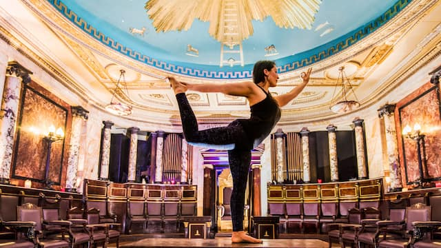 Andaz London Liverpool Street  Masonic Temple Activity Yoga