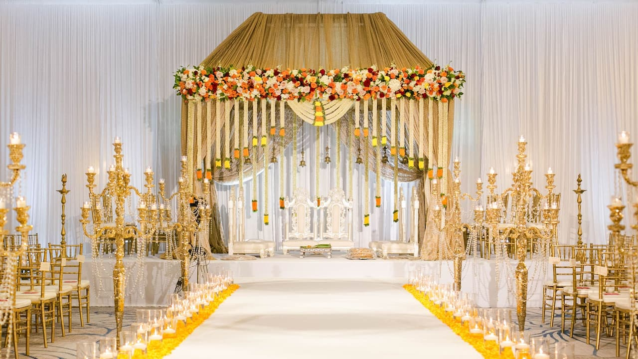Indian Wedding Aisle