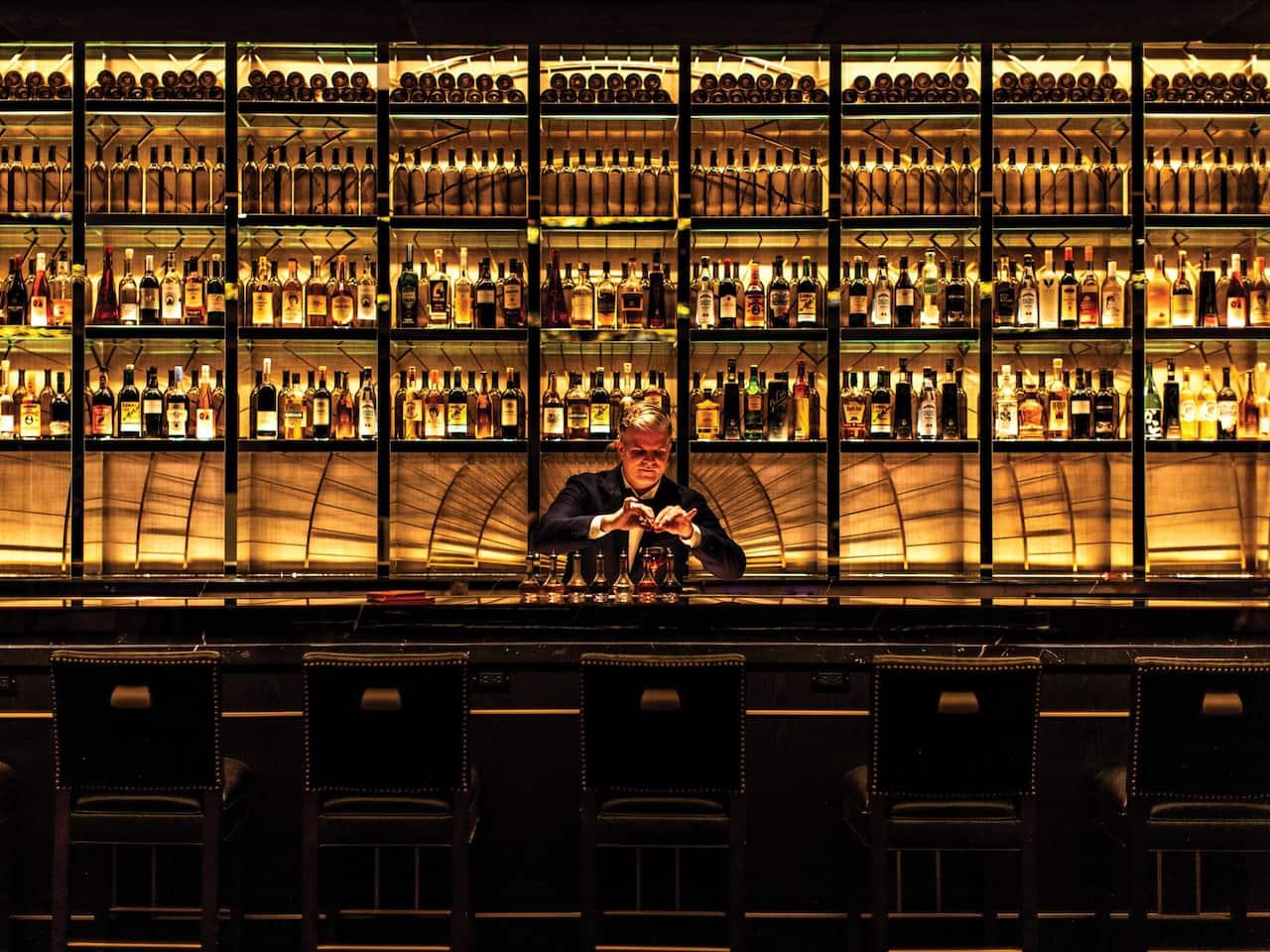 Bar with Barman