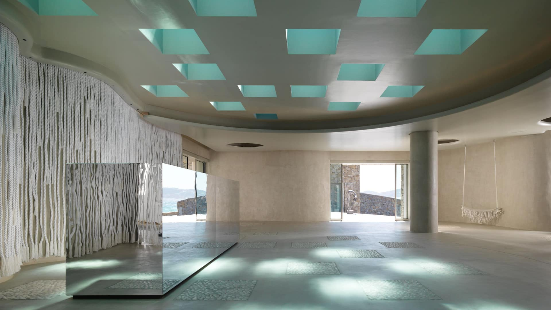 Reception Glass Ceiling