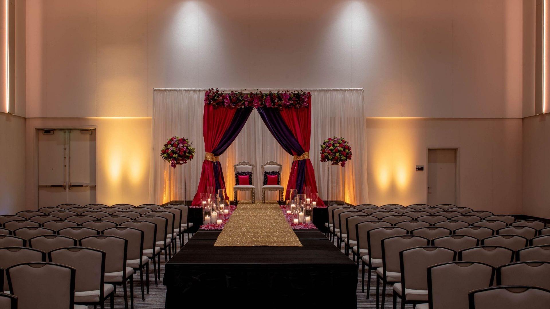 Hyatt Regency Seattle Wedding Setup