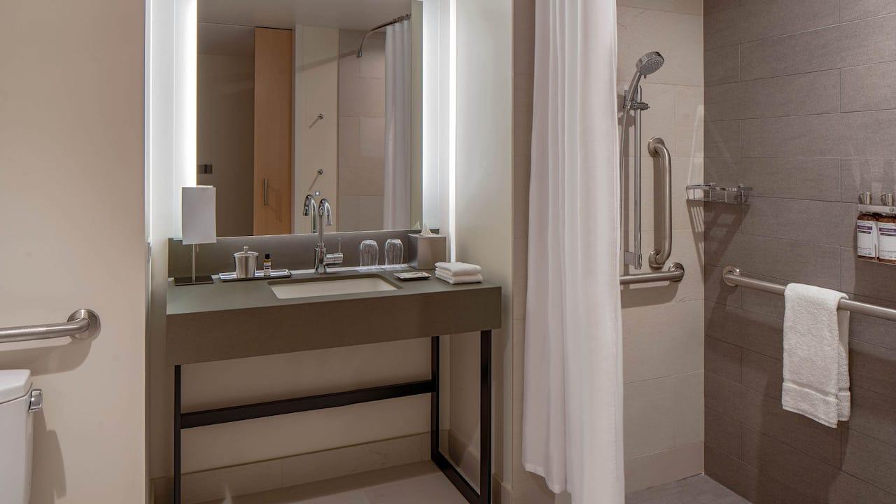 Hyatt Regency Seattle ADA Bath Roll-In Shower