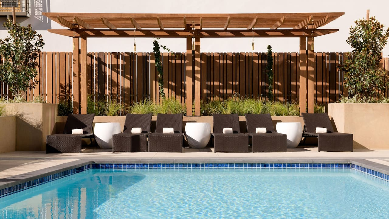 Relax in our outdoor pool at Hyatt Place Pasadena