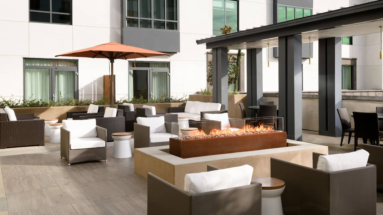 Hyatt Place Pasadena Outdoor Fire Pit