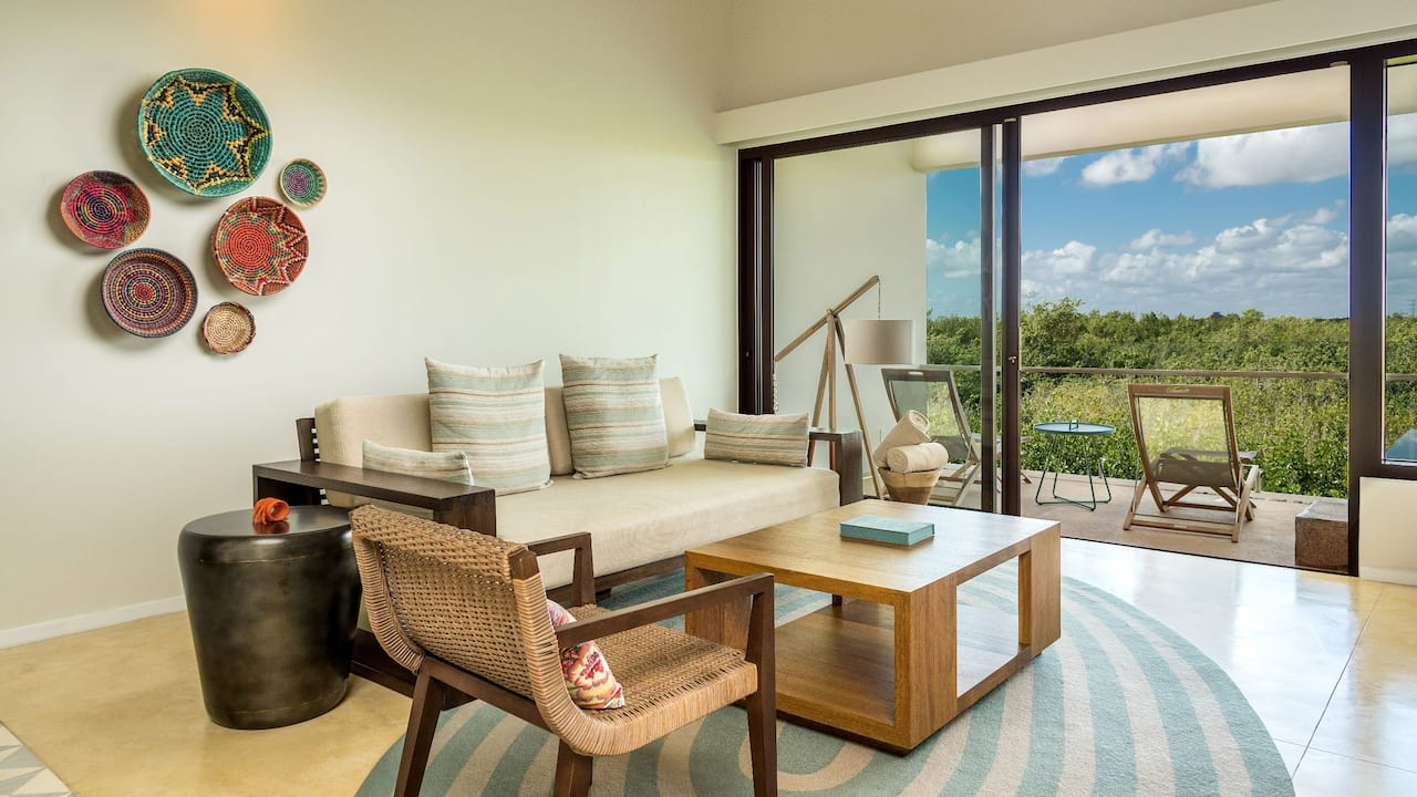 Andaz Mayakoba Resort Riviera Maya Beach Area Suite Living Room