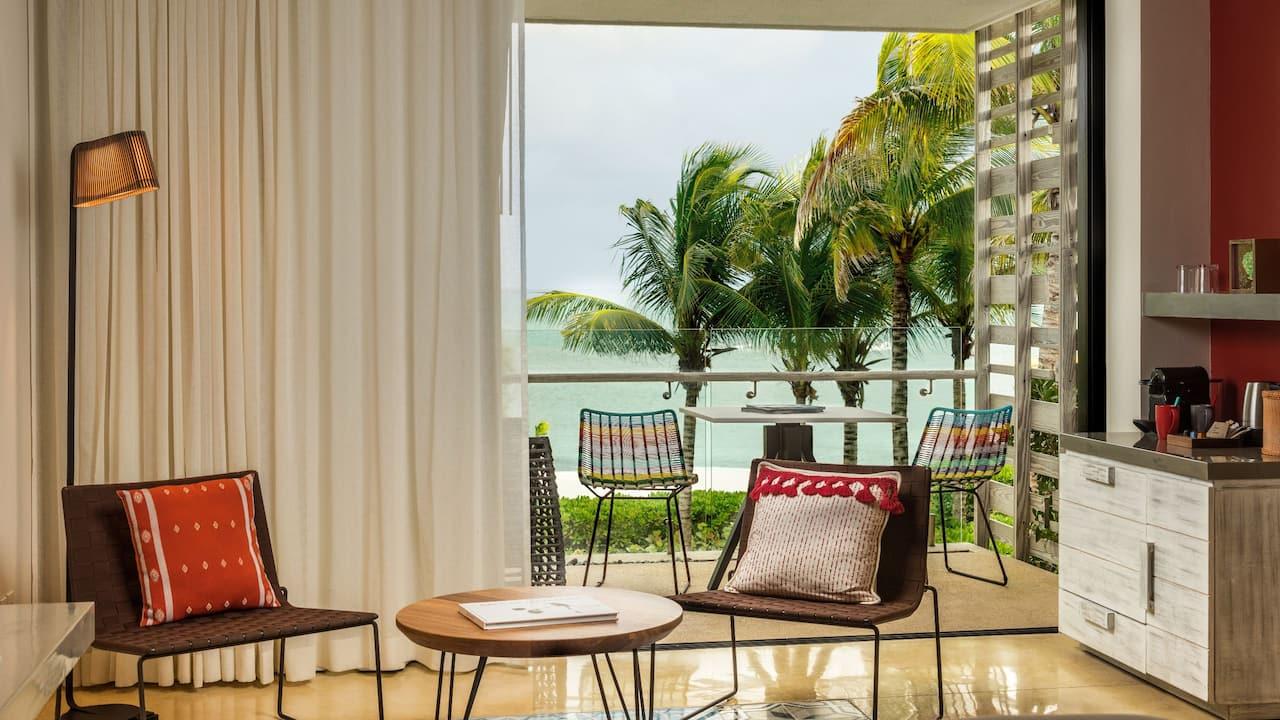 Andaz Mayakoba Resort Riviera Maya Beach Front Terrace Ocean View