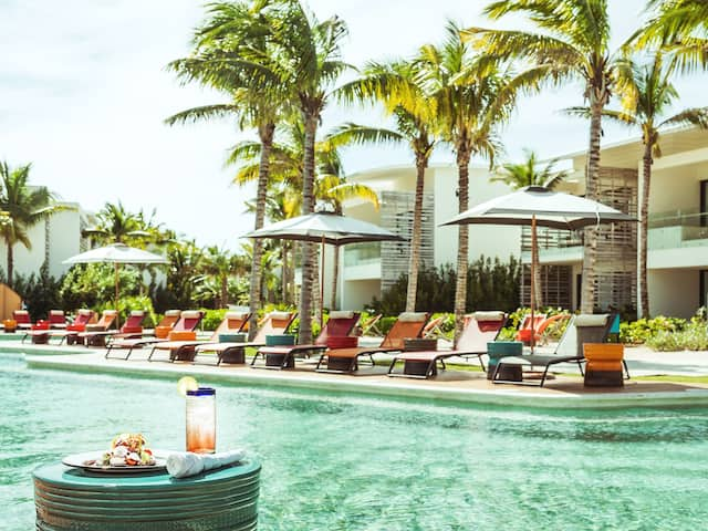 Andaz Mayakoba Resort Riviera Maya Poolside Lunch