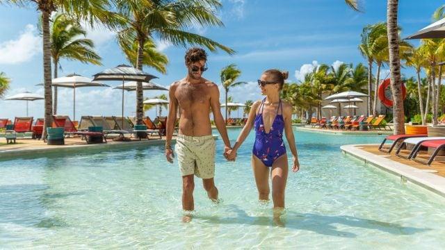Andaz Mayakoba Resort Beach Pool Couple