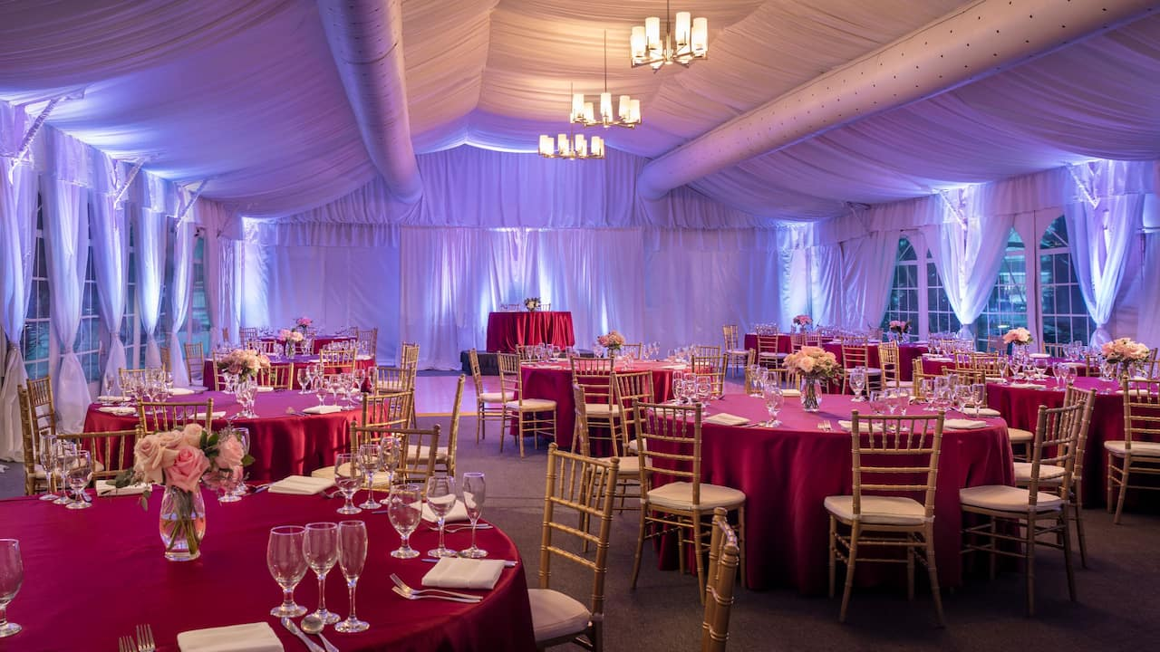 Pavillion Wedding Setup