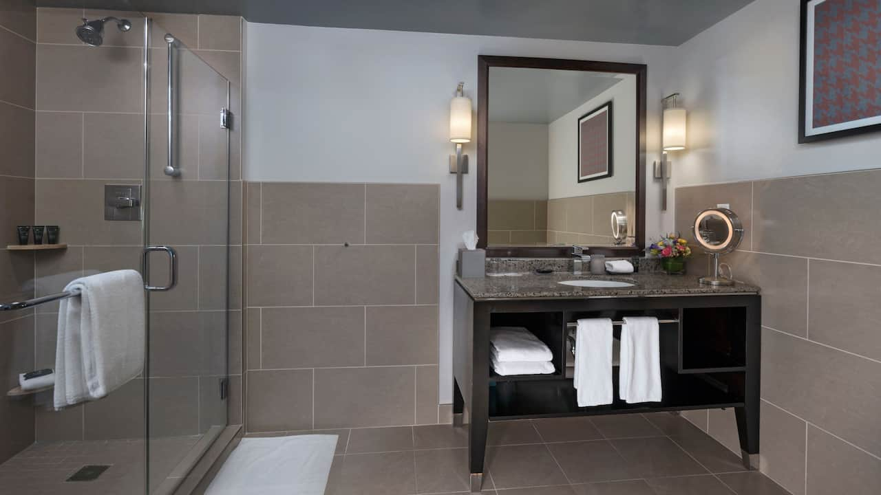 Hyatt Centric The Woodlands | ADA Lux Suite Shower
