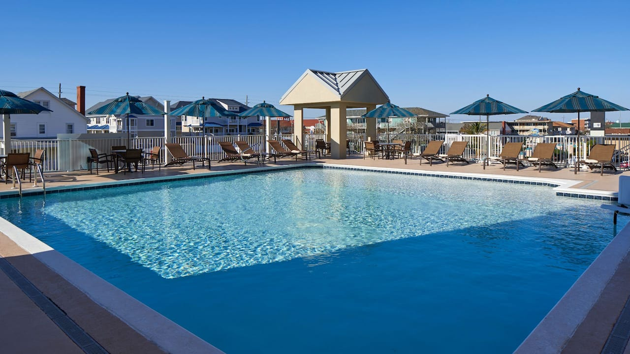 Hyatt Place Ocean City Oceanfront Outdoor Pool and Seating