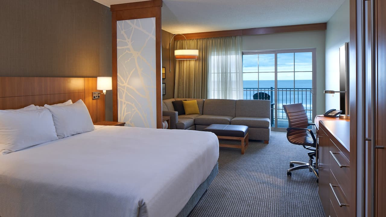Hyatt Place Ocean City Oceanfront King Room with Balcony overlooking Ocean