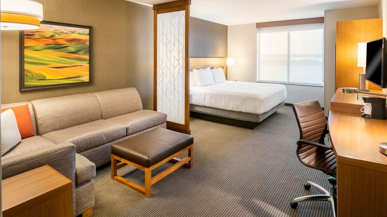 King Room River View with Sofa Bed Hyatt Place East Moline/Quad Cities