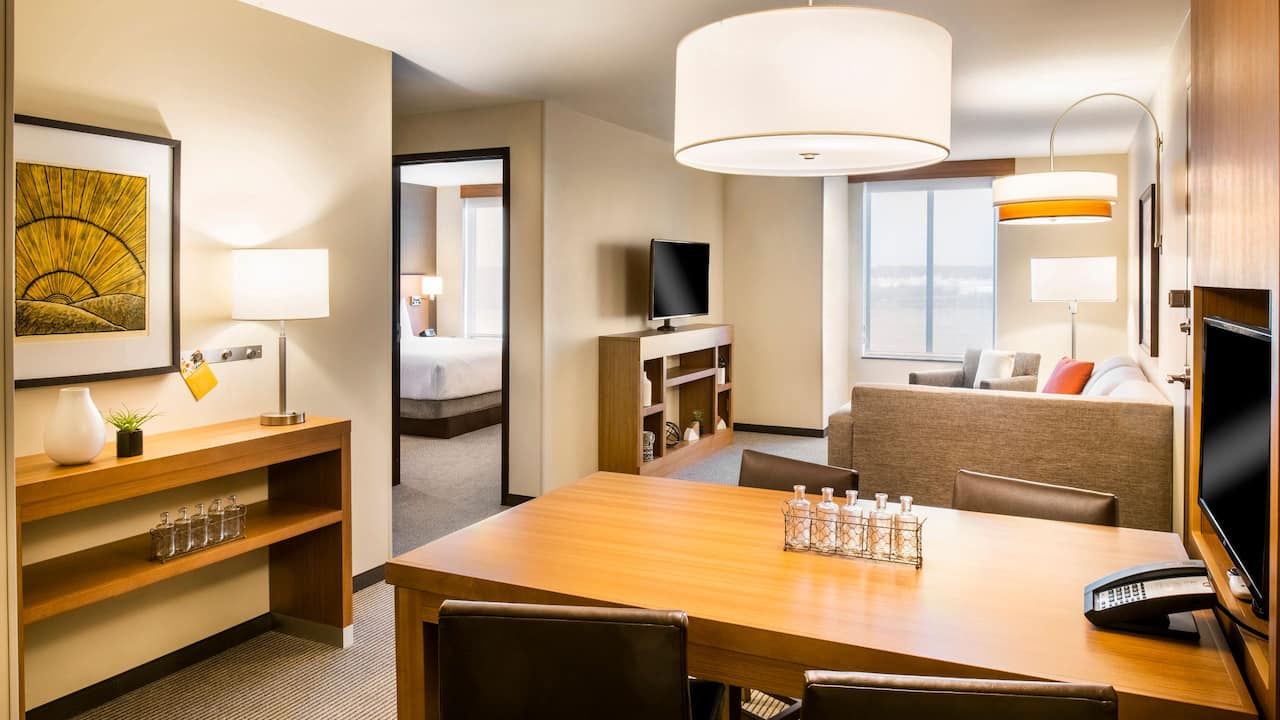 Accessible King Suite with Roll In Shower Hyatt Place East Moline/Quad Cities
