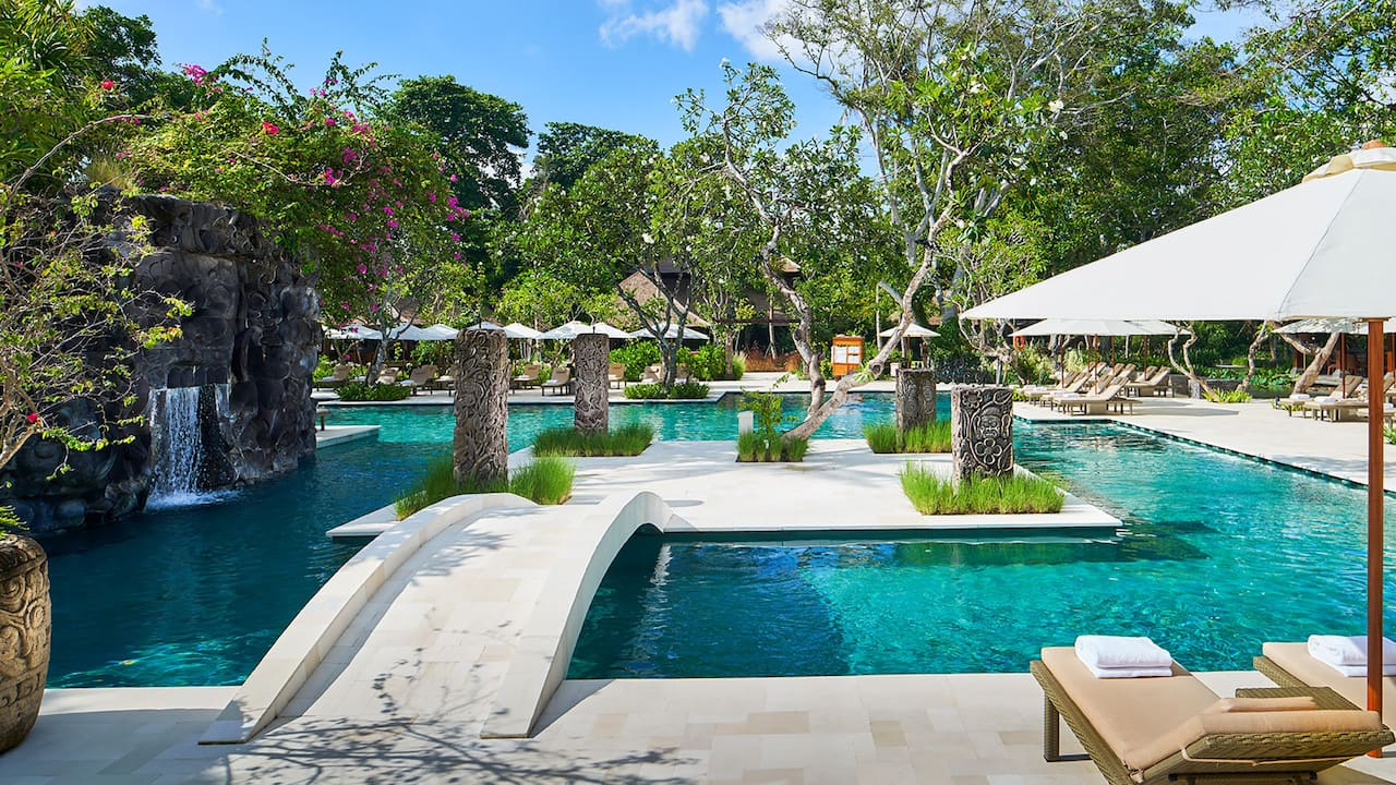 Outdoor Swimming Pool at the Hyatt Regency Bali