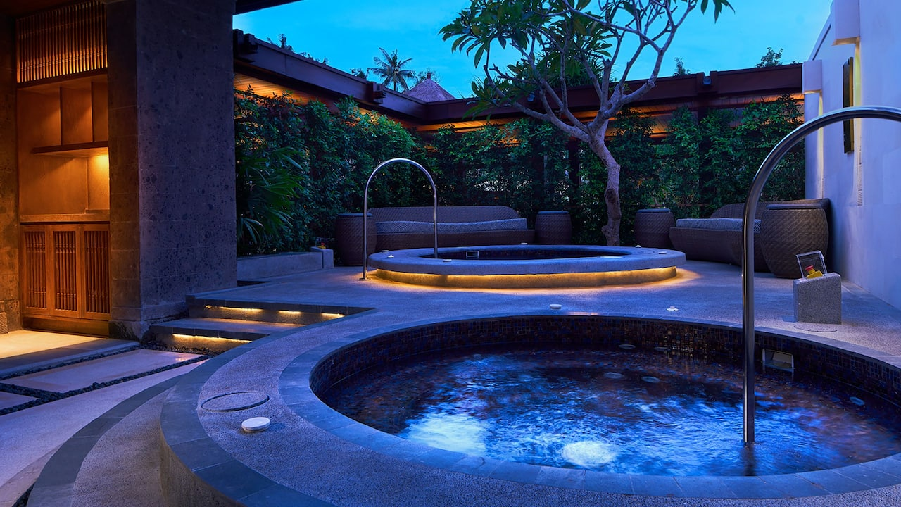 Sauna and Jacuzzi at Shankha Spa Hyatt Regency Bali