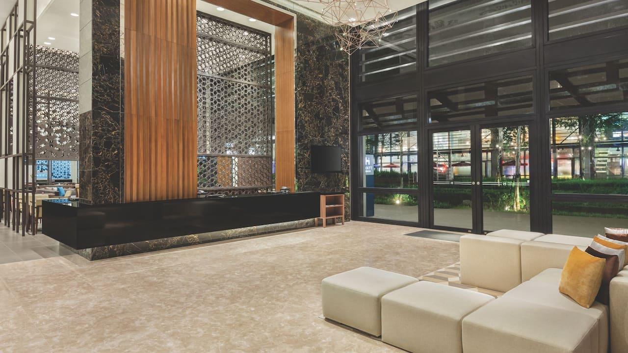 Hyatt House Lobby, Extended Stay Hotel Kuala Lumpur Mont Kiara Malaysia